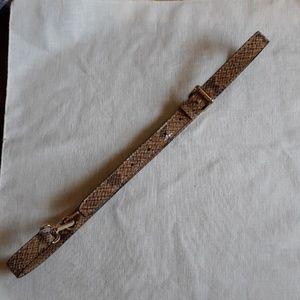 Michael Kors snake embossed skinny belt